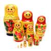 """Vyatka """"Uzor"""" 12-nested Northern Maidens (ND-V12d)"""