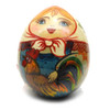 Little Girl with Rooster Easter Egg