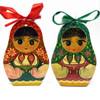Small Matryoshka Wood Cuts, pair