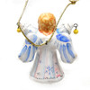 Angel with Jingle Bells  Majolica Ornament