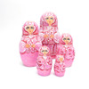Pink with Pearls Matryoshka Doll