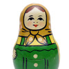 Zagorsk Green Roly Poly Chime Doll