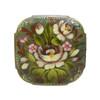 Flower Brooch [Olive, Light Pink, Garnet]
