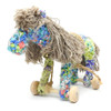 Rainbow Textile Pull-Along Toy Horse