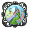 Maiden by the Mirror Finift Brooch