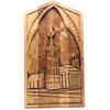 Tower and Buildings Carved Wall Plaque