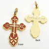 Small Red Enamel Cross Front and Back