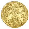 St. George the Trophy Bearer Brass Icon