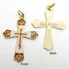 Red Enamel Russian Cross with Chain NTCR