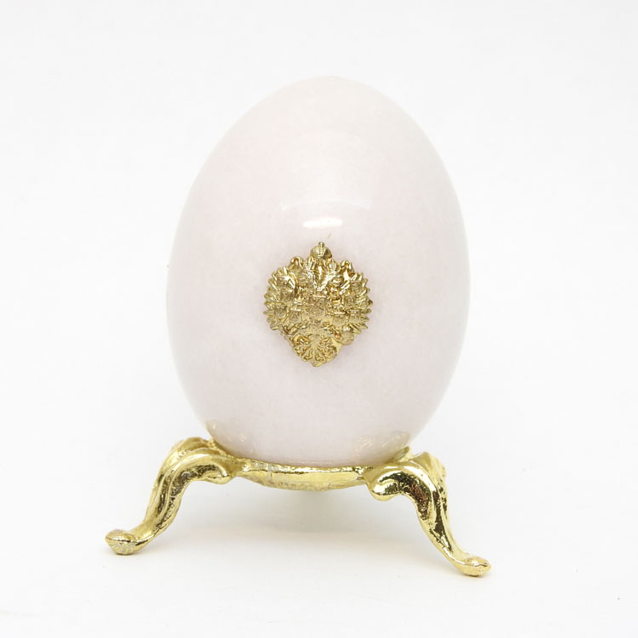 "Russian Eagle Marble Egg ""White"""