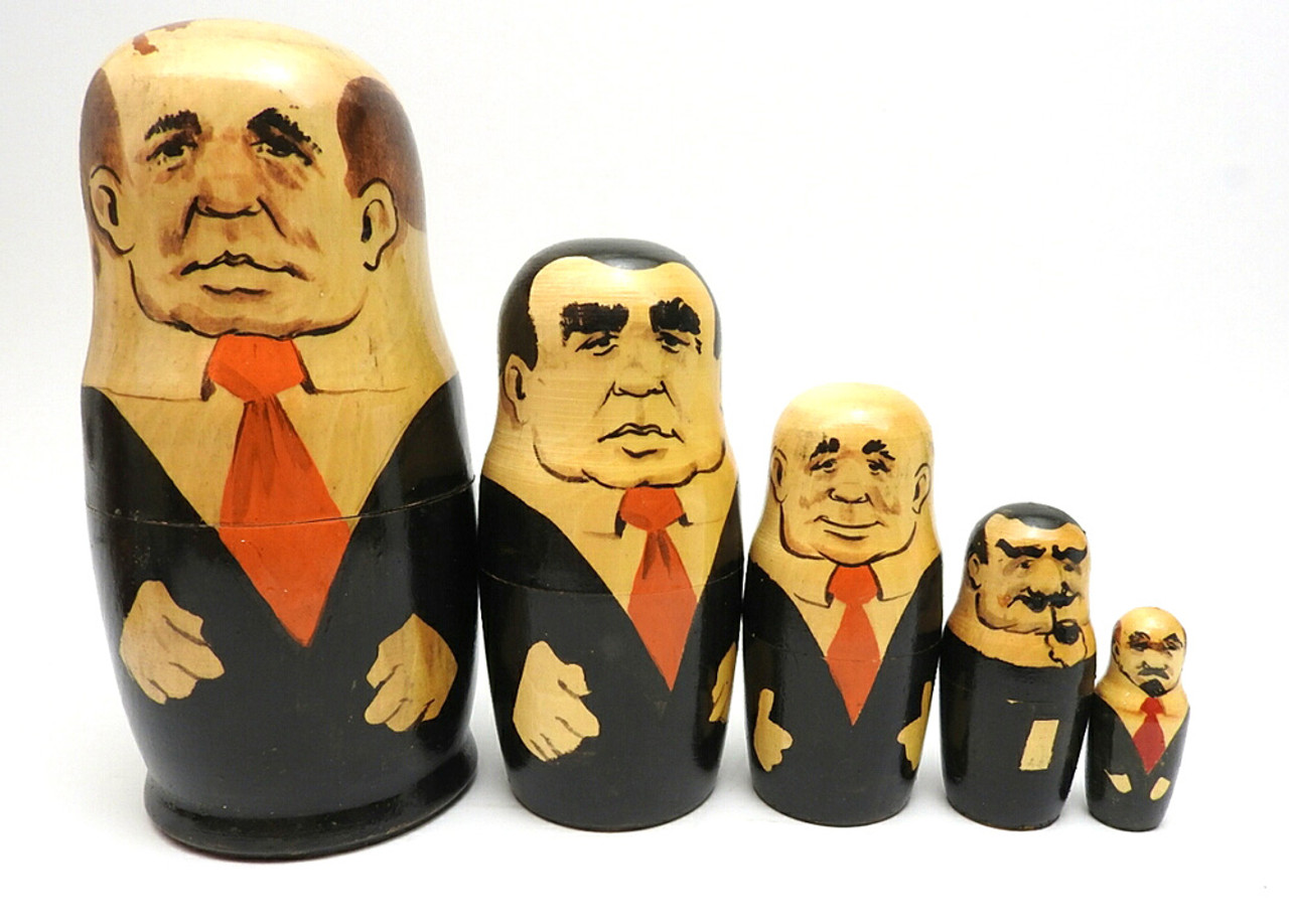 Gorbachev with Men in Black Communist Leaders