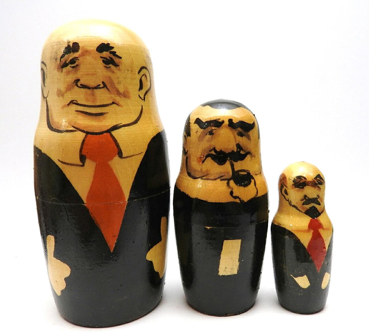 Khrushchev, Stalin and Lenin in the set Gorbachev with Men in Black Communist Leaders