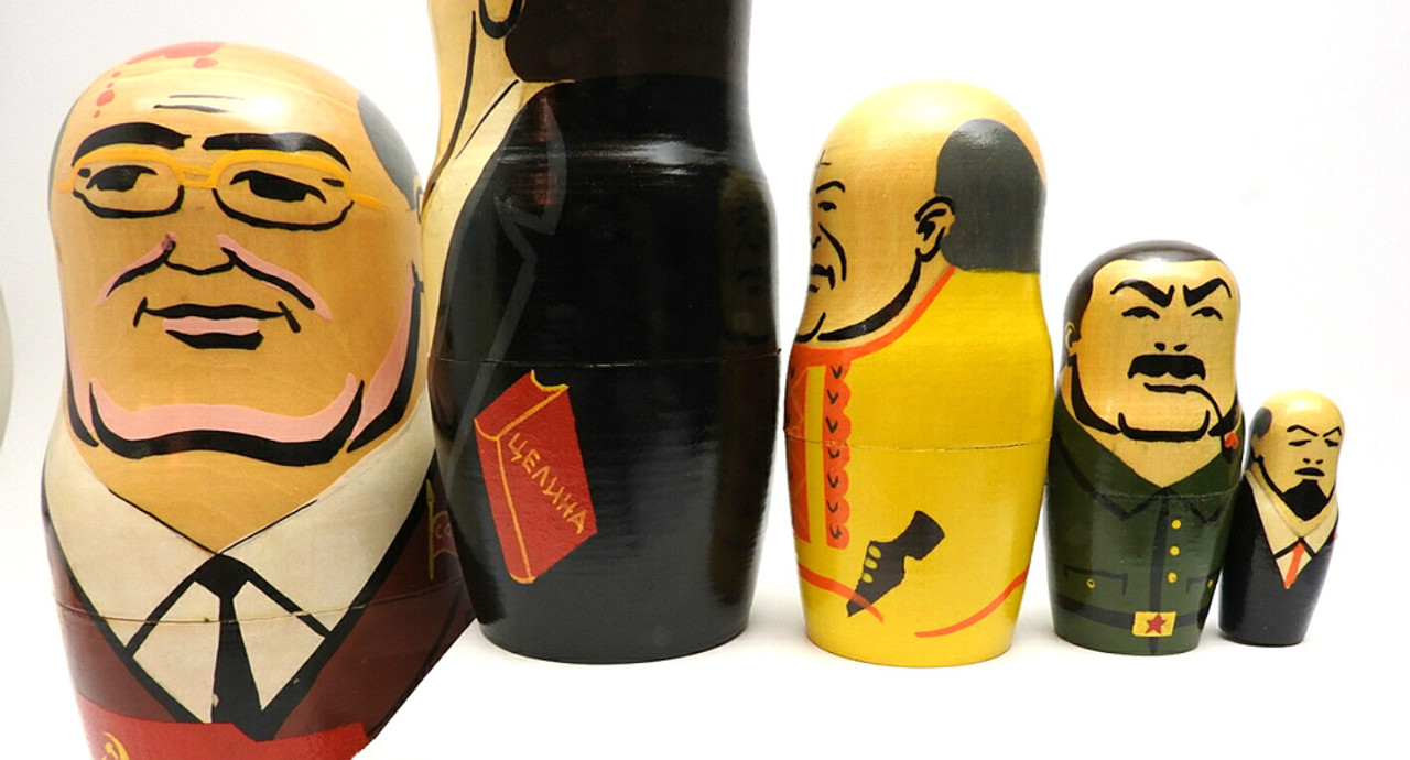 Gorbachev and Comrades Matryoshka Doll