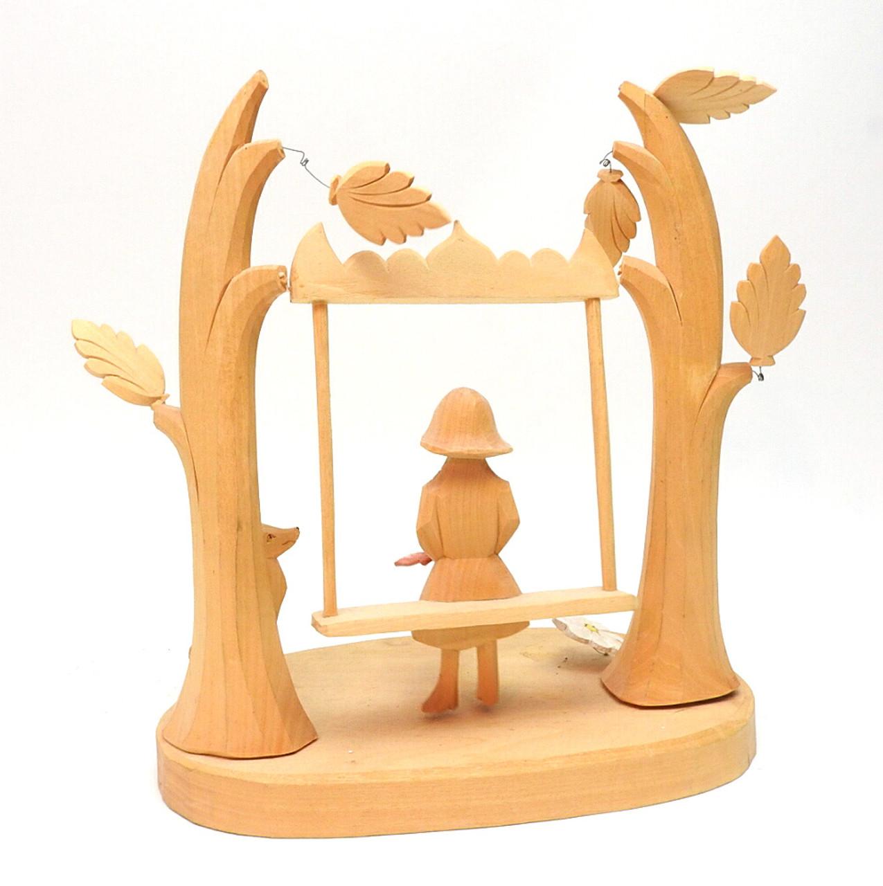 Girl on a Swing Bogorodsk Ensemble Carving
