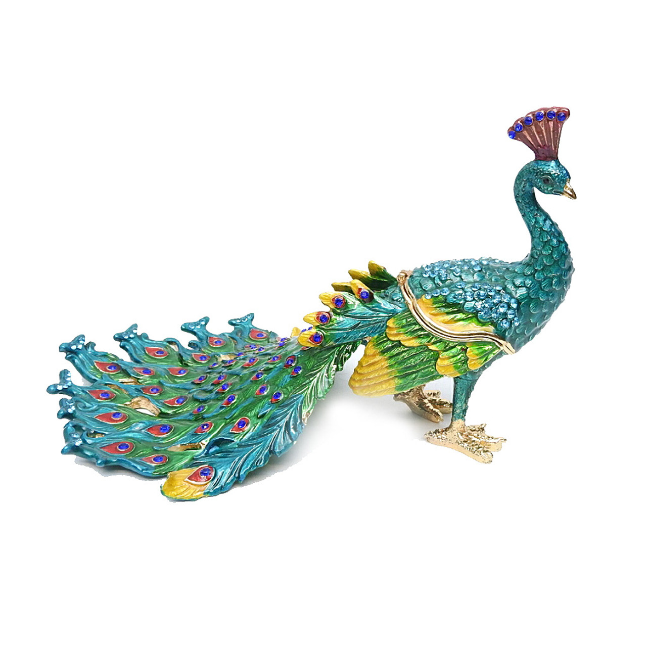 Large Peacock Jewelry Box