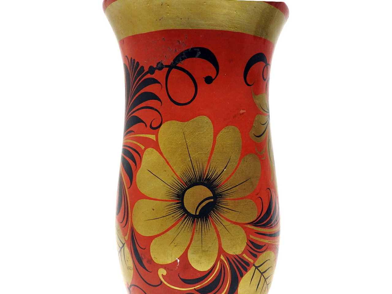 Khokhloma Flower Vase in Very Good Vintage Condition