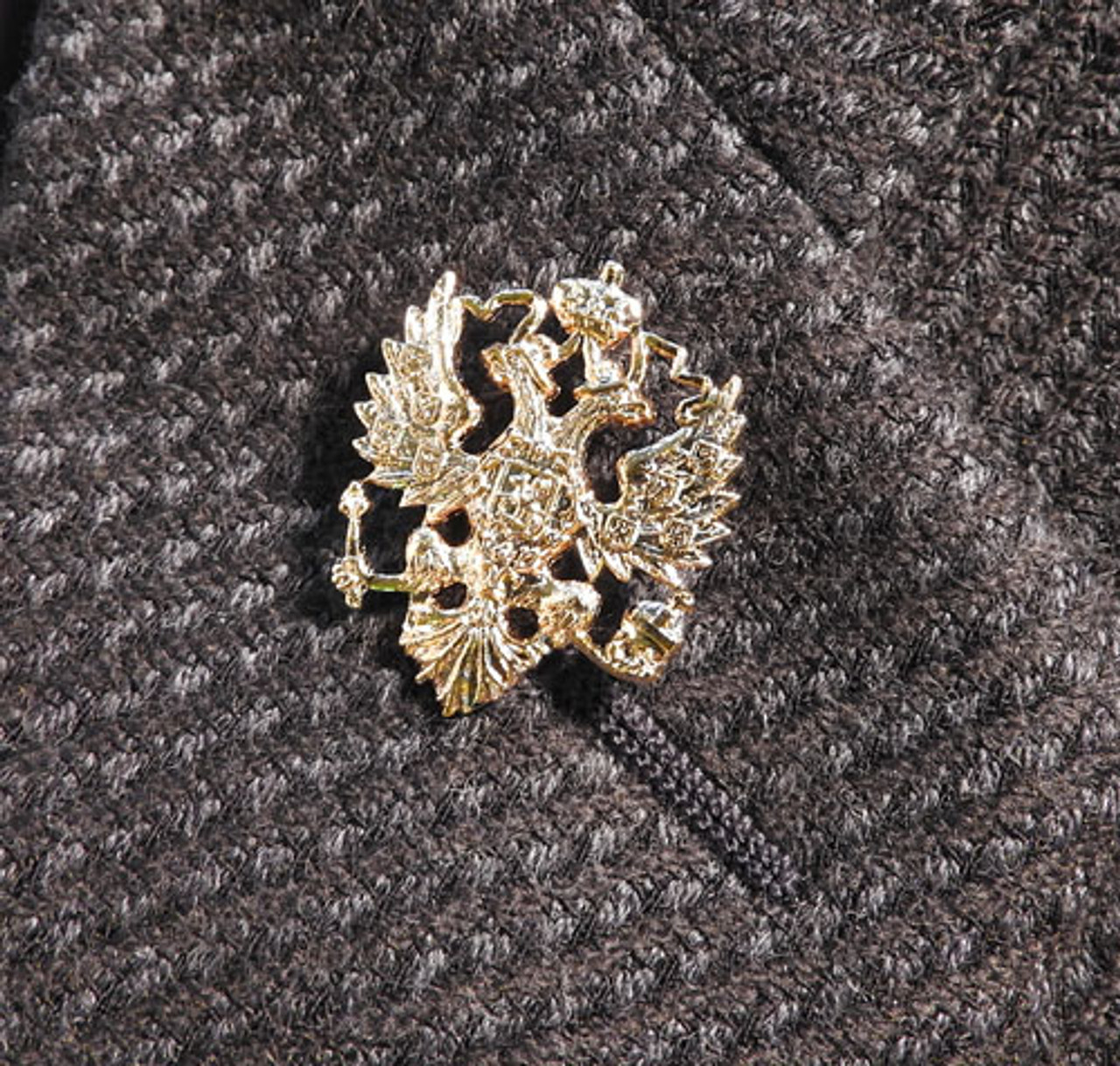 Russian Double Headed Eagle Gold Plated Lapel Pin