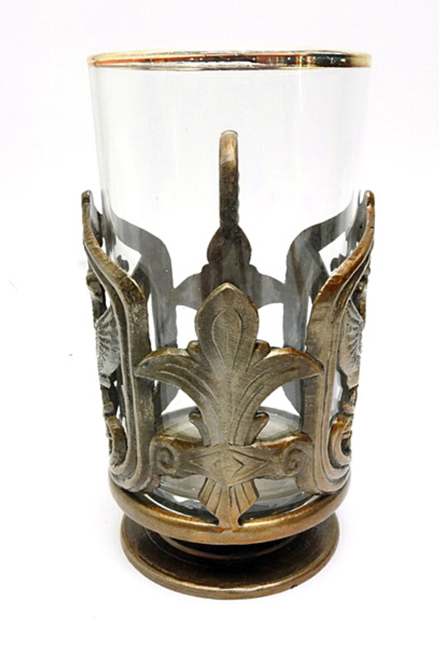 Double Headed Eagle Tea Glass Holder