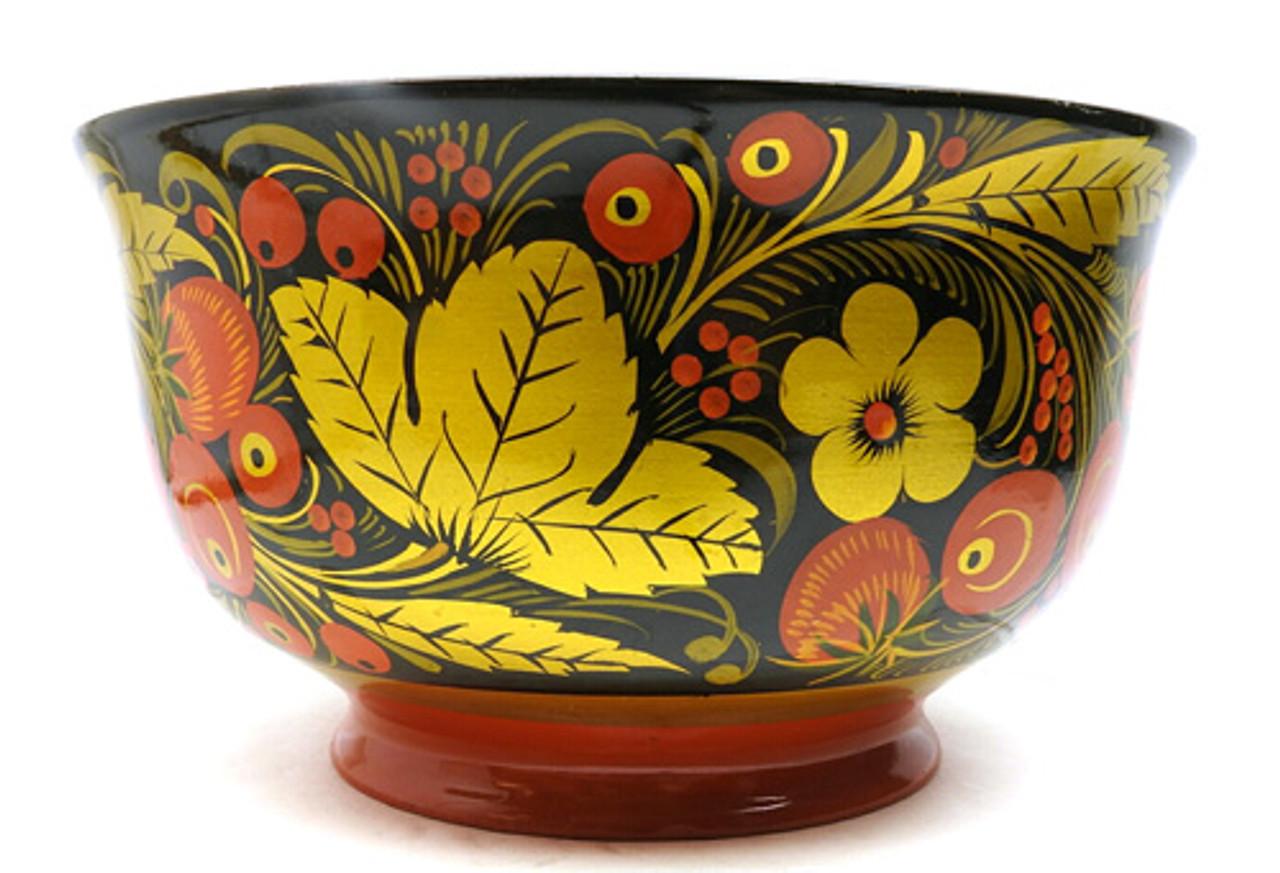 Classic Vintage Khokhloma Serving Bowl