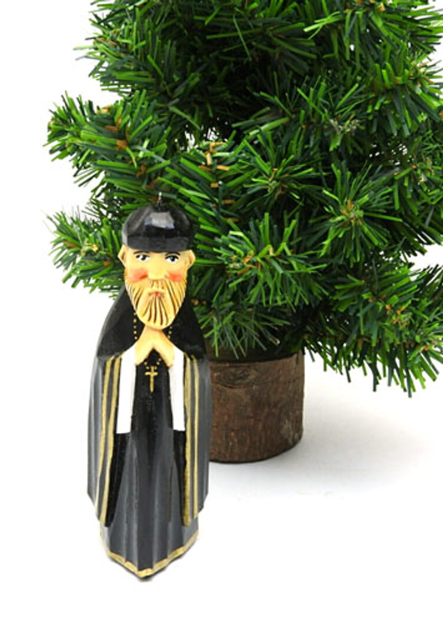 Orthodox Monk Hand Made Ornament