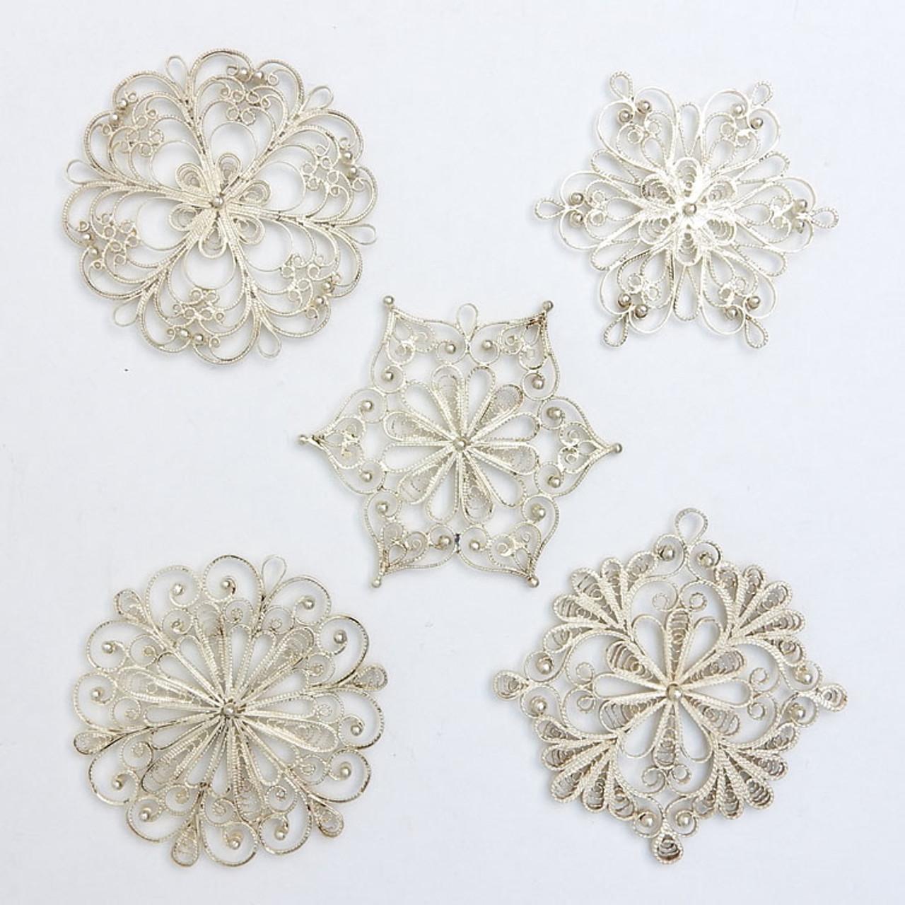 """Снежинка"" (SnowFlake) Russian Filigree Christmas Ornaments"