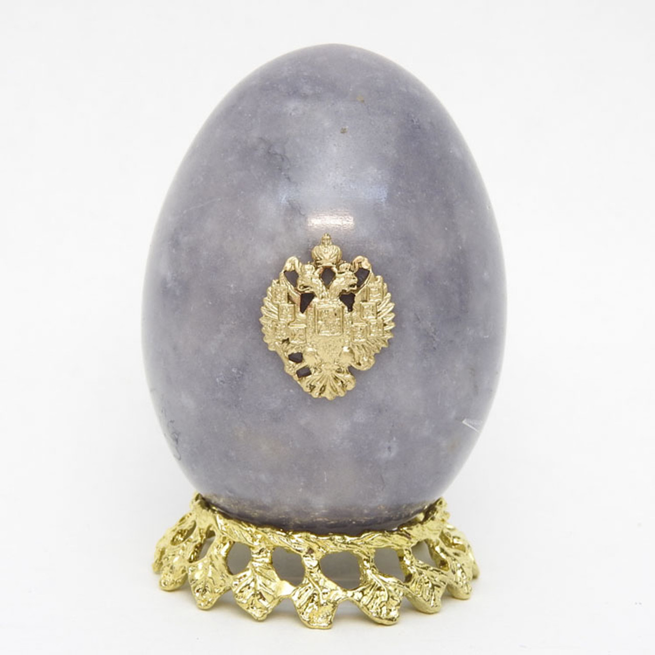 Marble Imperial Russian Eagle Egg Gray