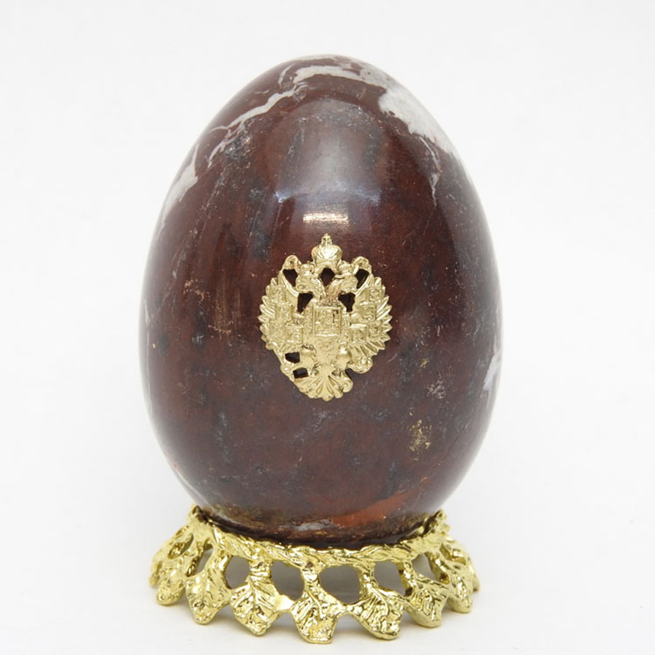 Marble Imperial Russian Eagle Egg Mahogany 2