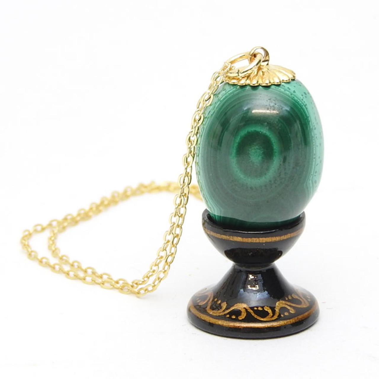 Malachite Egg  Pendant