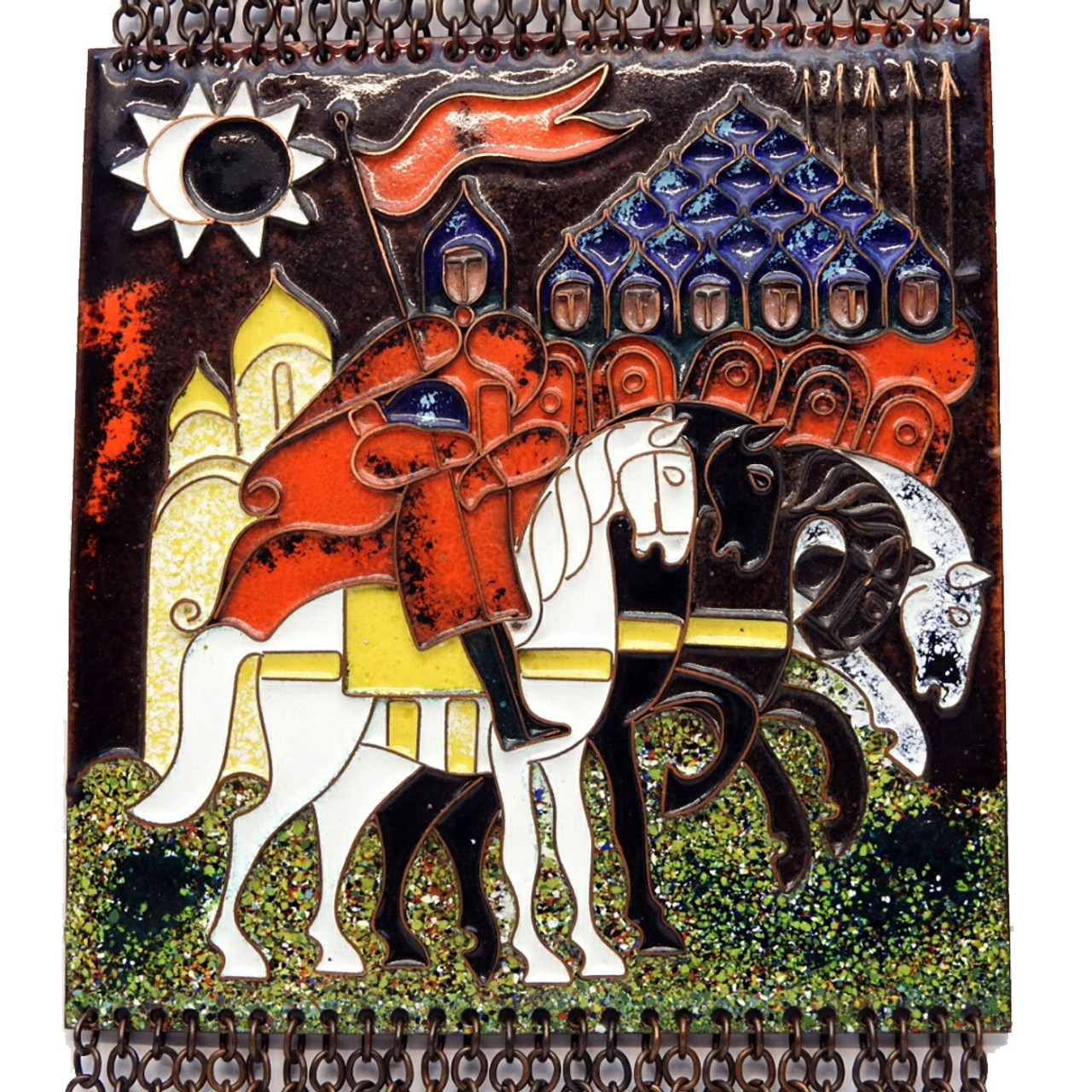 Tale of the Host of Igor Enamel on Copper Plaque