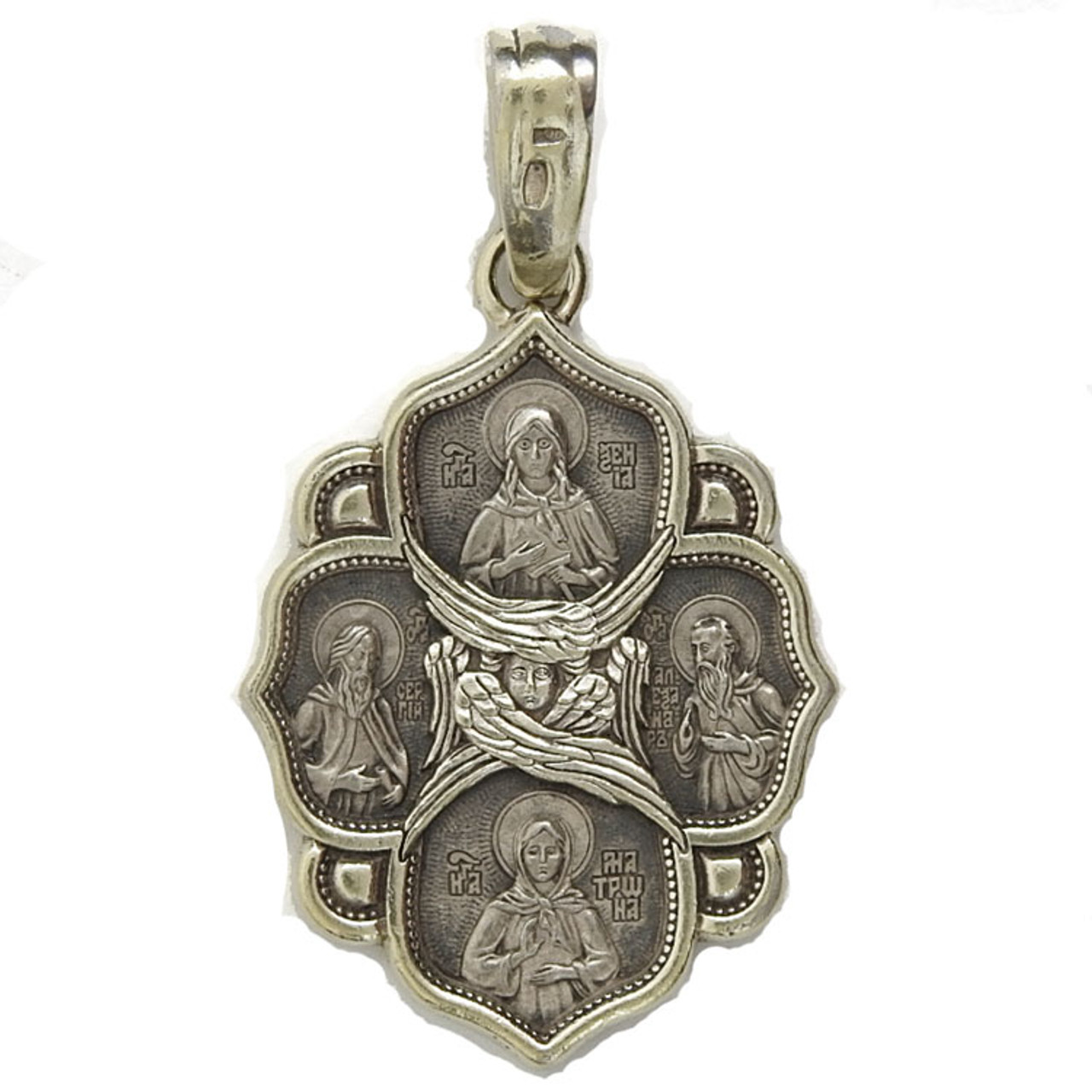 Russian Cross Icon of The Transfiguration and Saints