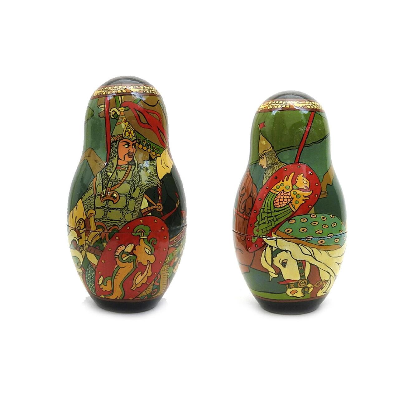 Tsar Saltan Bilibin Artistic Matryoshka  5th Doll Front and Back