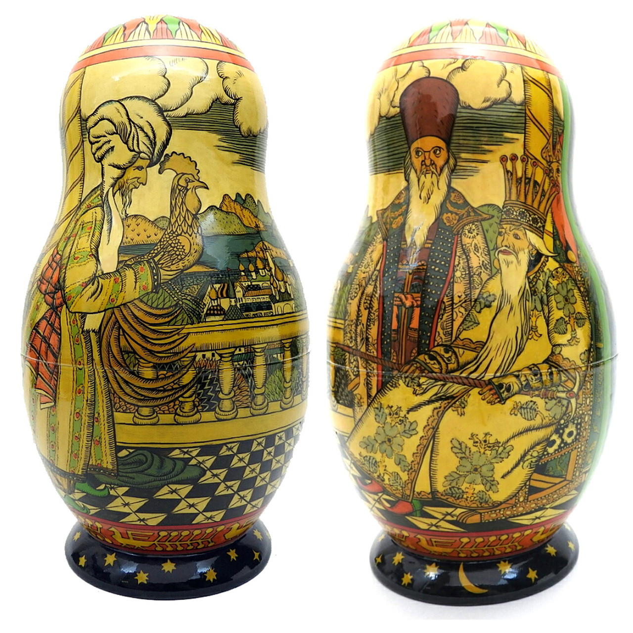 Bilibin Fairy Tales Illustrations Artistic Matryoshka 1st Doll Two Views