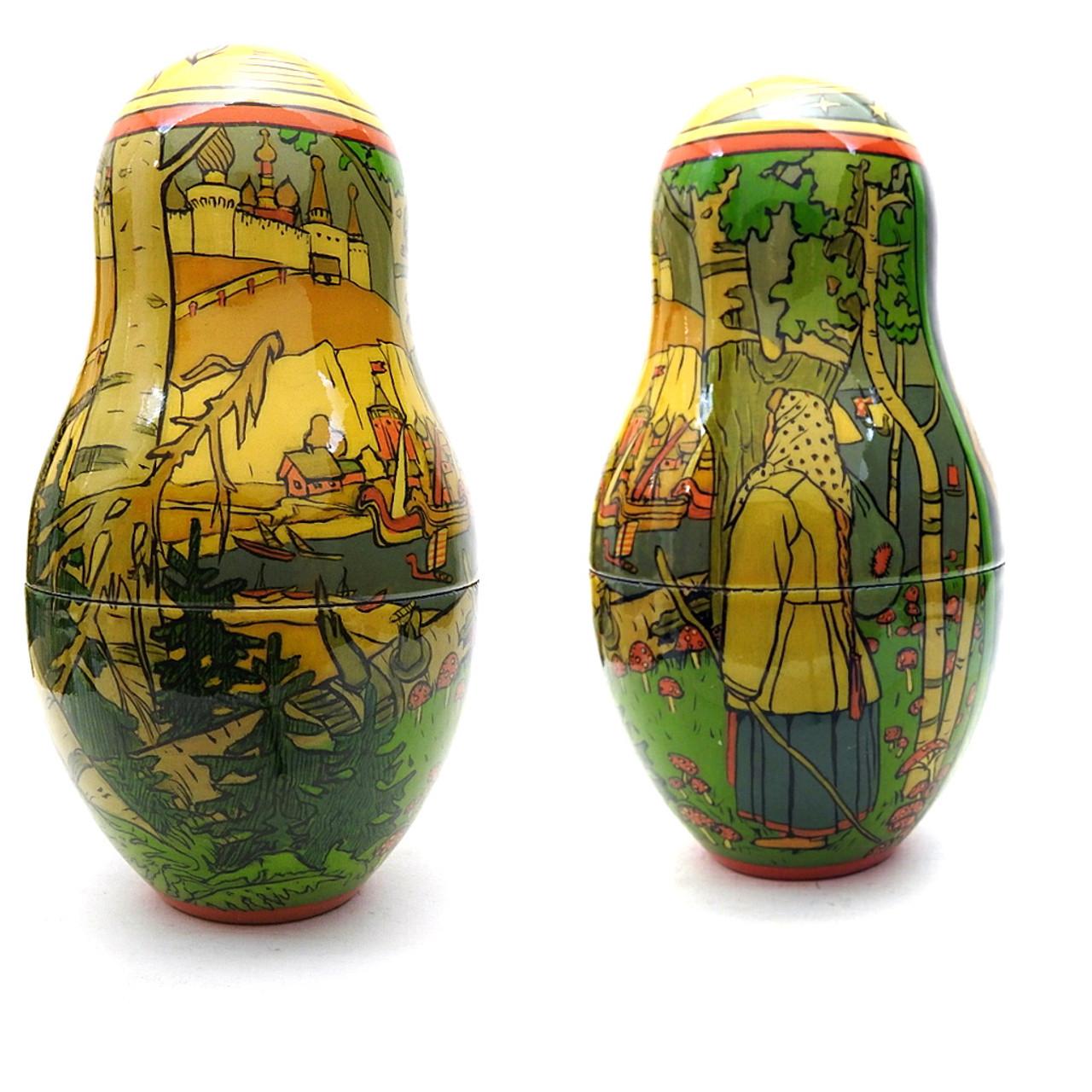 Bilibin Fairy Tales Illustrations Artistic Matryoshka 6th Doll Two Views
