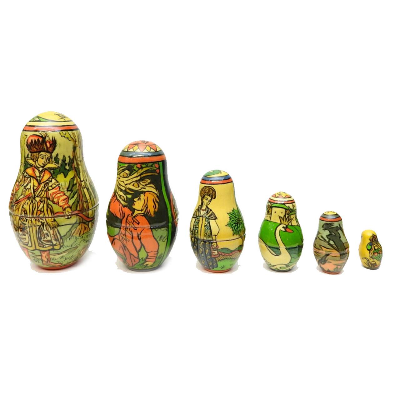 Bilibin Fairy Tales Illustrations Artistic Matryoshka Last 6 Dolls