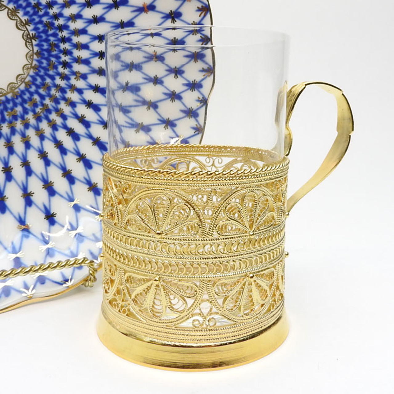 Lace (Кружевной) Filigree Tea Glass Holder