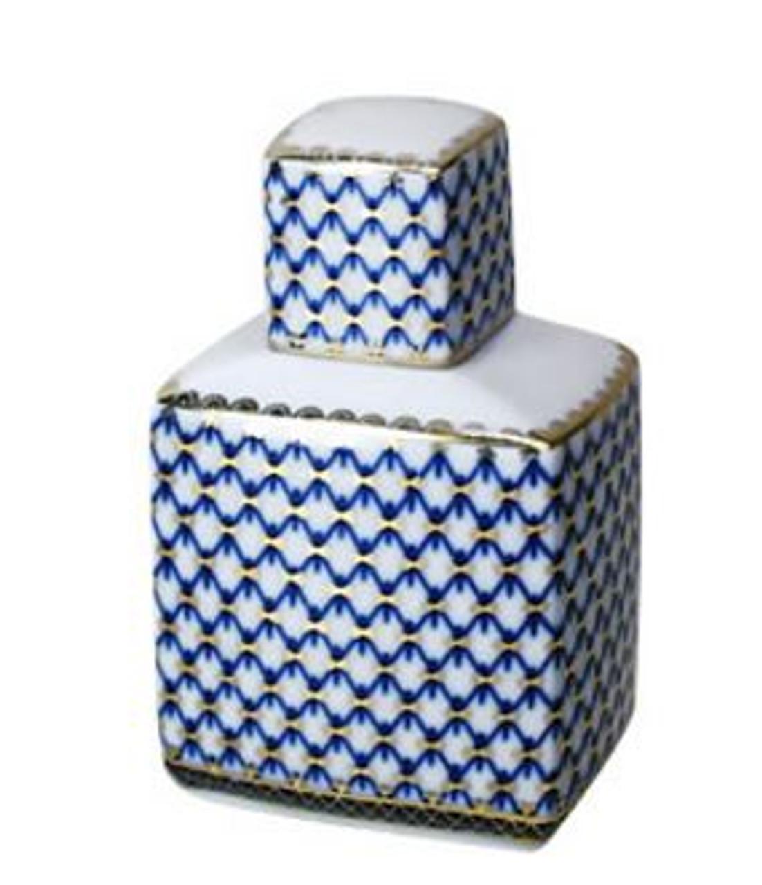 Cobalt Net Tea Caddy