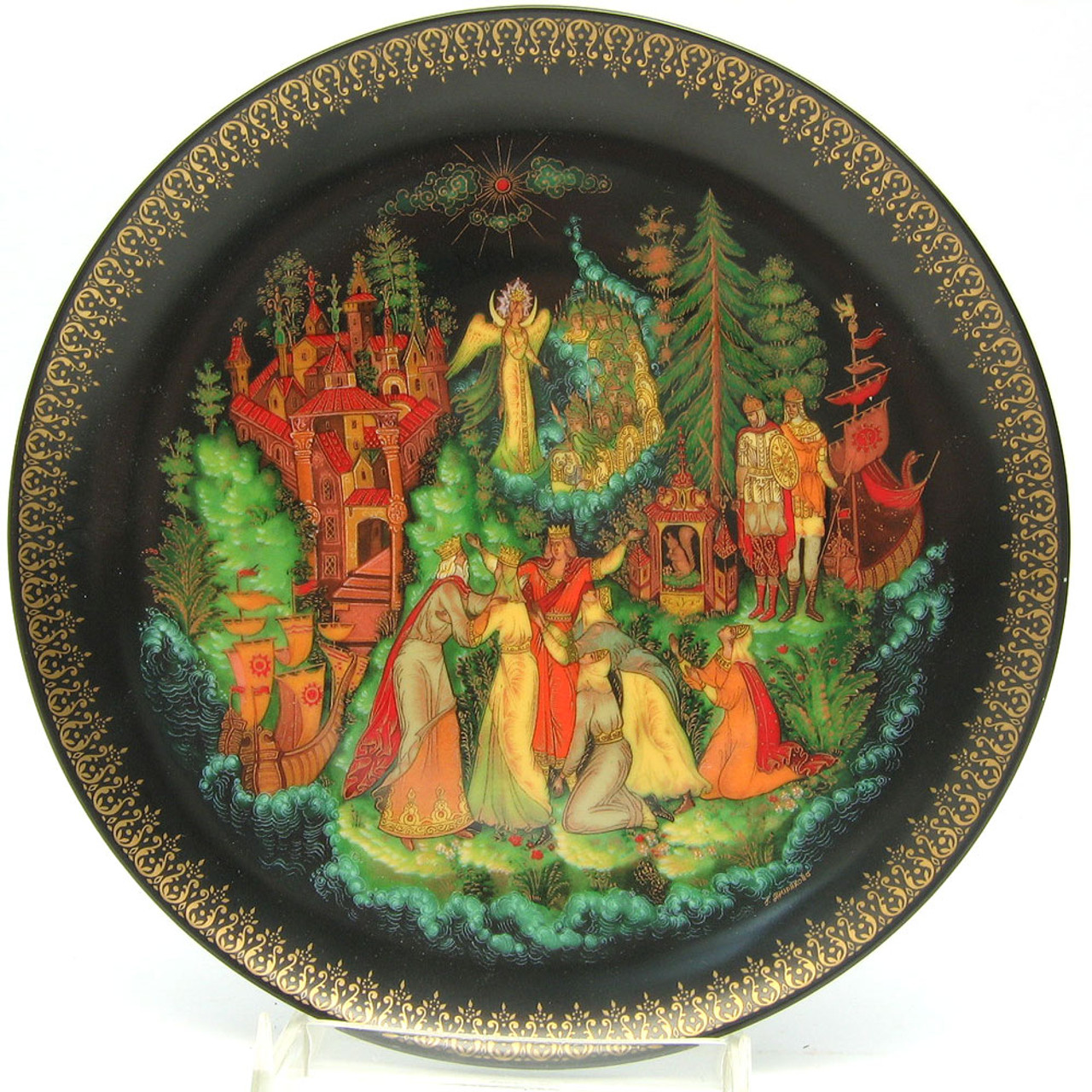 Tsar Saltan 6th plate in the RUSSIAN LEGENDS 1988 series