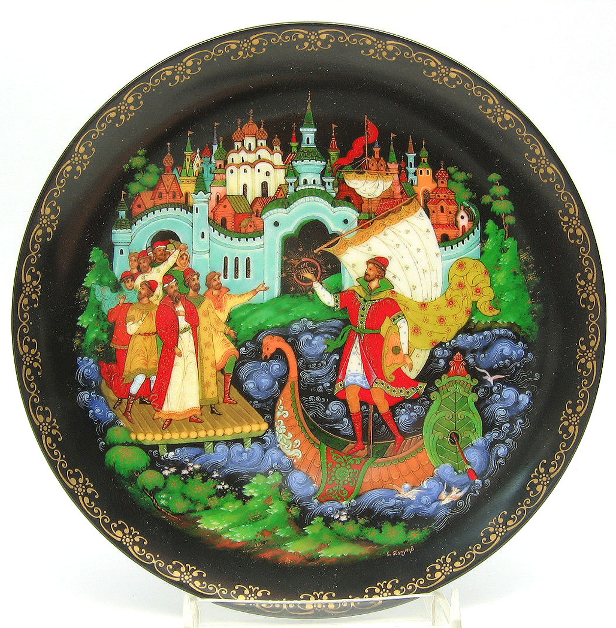 Sadko 9th plate in the RUSSIAN LEGENDS Series of 1988
