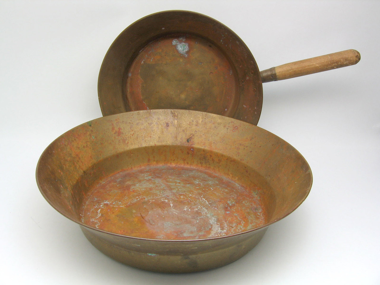 Vintage Kolchugino and Tula jam and sauce making pans