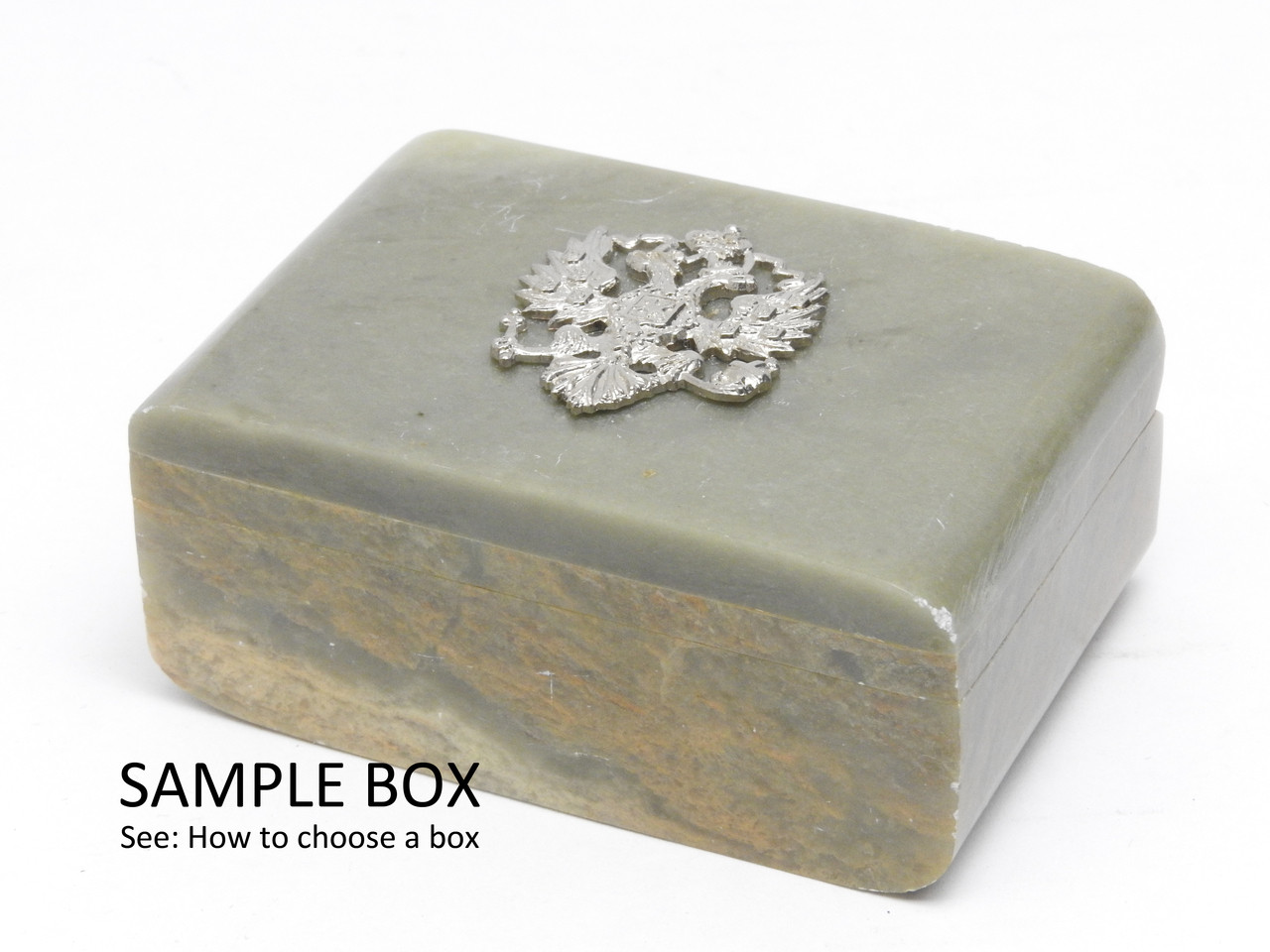 Russian Eagle Small Stone Box