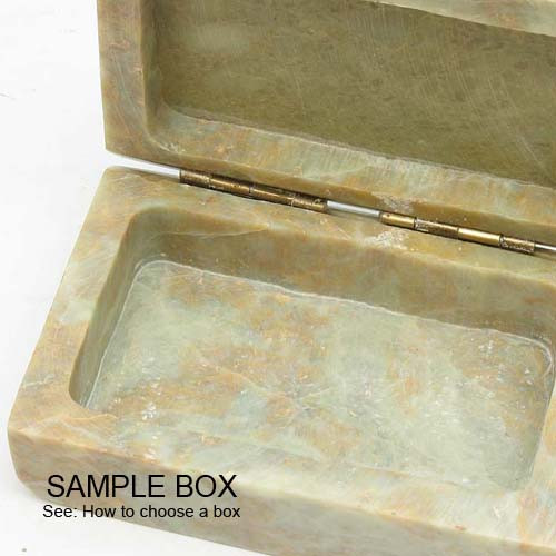 Natural Stone Keepsake Box with Cross