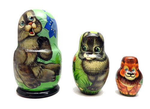 Playful Kittens Matryoshka Doll