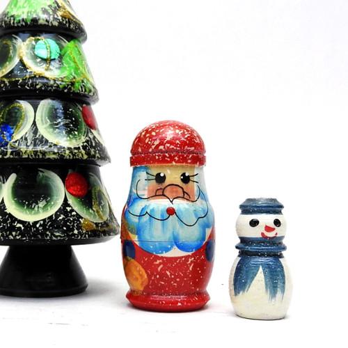 Christmas Tree Matryoshka Nesting Doll