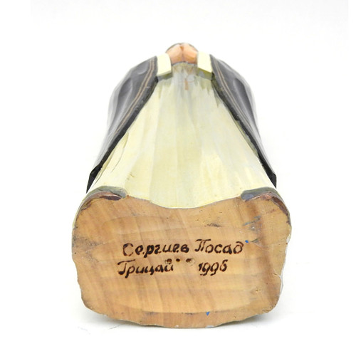 Russian Orthodox Nun Wood Carving