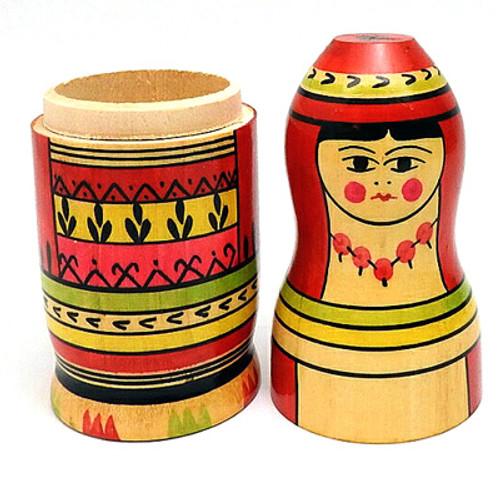 Mordva (Мордовия) Matryoshka Small Bottle Holder.