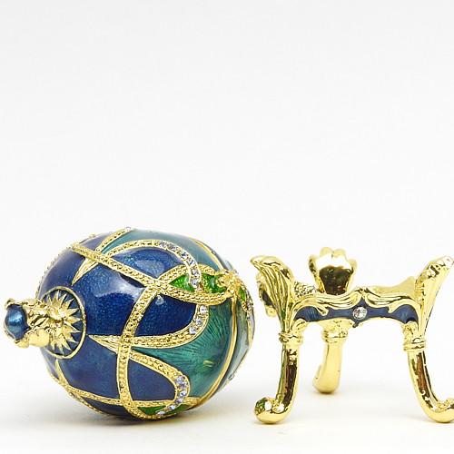 "Mini Royal Aqua Egg Box with Crown [2½""]"