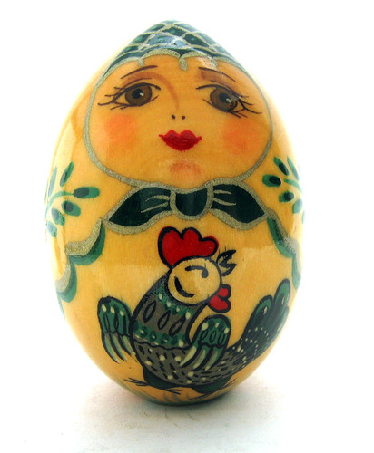 Easter Egg Girl with Cockerel (Девушка с Петушком) front view