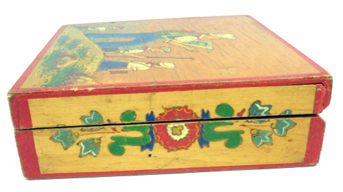 Mid 20th Century Painted Box Pioneers