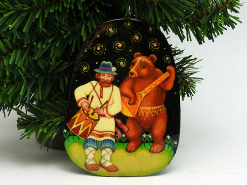 Russian Painted Christmas Ornament *Festival Musicians
