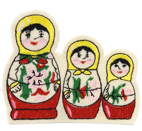 Embroidered Matryoshka Doll Sew-on Patch